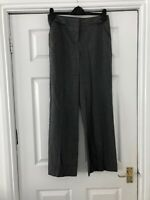 Grey Trousers Marks And Spencer M&S Smart Work Size 10 DK98 Straight Leg
