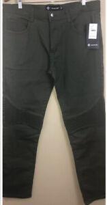 Akademiks Jeans Ribbed Knee Men 36Wx32L 1-Olive & 1-Wheat   New