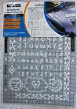 Fiskers ShapeBoss Themed Embossing Stencil Set - LETTERING - WHIMSICAL