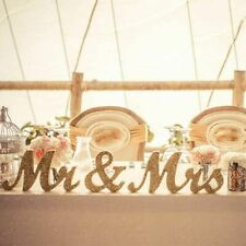 Mr & Mrs Wooden Letters Wedding Decoration Present Props Table Party Gift Deco