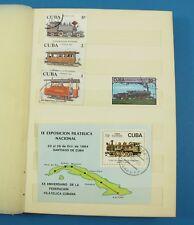Briefmarkenalbum Eisenbahn Ausland ca. 120 Briefmarken 1970/1980er Jahre