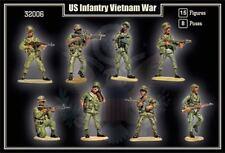 Mars 1/32 VIETNAM WAR US ARMY 15 Unpainted Plastic Toy Soldiers 32006 MIB