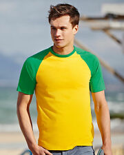 Fruit of the Loom Short Sleeve Basic Fitted T-Shirts for Men
