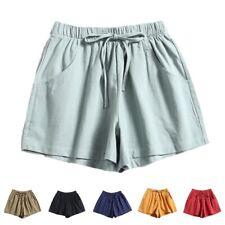 Womens Running Shorts Elastic Waist Summer Beach Casual Loose Yoga Hot Pants