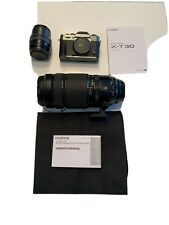 Fujifilm X-T30 26.1MP Mirrorless Camera - Black (with 15-45mm Lens & 100-400mm)