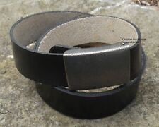 Ledergürtel Hosengürtel Lederkoppel schwarz  160 cm Bundeswehrgürtel Bw Gürtel