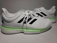 Adidas Men's SoleCourt BOOST Tennis Shoes White Green EF2068 Men's Size 11.5