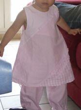 Ensemble fille 18 mois VICHY ROSE Absorba idéal cérémonie célébration Baptême