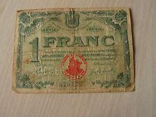 billet   1 francs  chambre de commerce  de rochefort sur mer