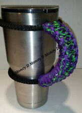 Paracord Handle for 40oz, 30oz, or 20ozYeti Ozark & Aritic Zombie pattern purple