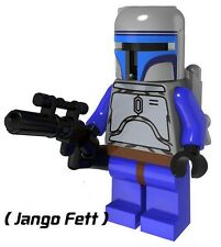 Jango Fett (Style 1) Mini Figure NEW UK Seller Fits Lego Starwars Star Wars
