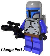 Jango Fett (estilo 1) Mini Figura Nuevo Vendedor Reino Unido se ajusta Lego Starwars Guerra De Las Galaxias