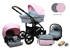 Buggy Baby Pram Set  3 in 1 Car Seat OPTI-B Pushchair Newborns Travel System