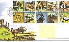 wbc. - GB - FIRST DAY COVER - FDC - COMMEMS -2005- FARM ANIMALS - Pmk PADDOCK