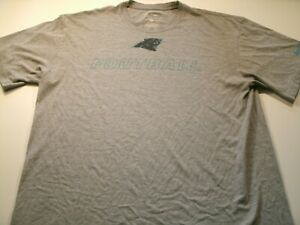 Nike NFL Mens Size L Panthers Football  Graphic T-Shirt Short Sleeve Grey Color