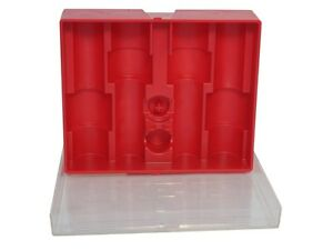 Lee Precision Red Storage Box with Clear Lid for FOUR (4) Dies  # 90422  New!