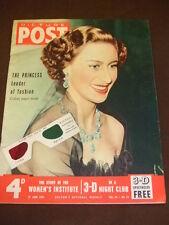 PICTURE POST - PRINCESS MARGARET - June 27 1953 Vol 59 #13 - ORIGINAL 3D GLASSES