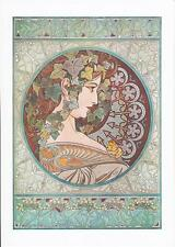 LAUREL and IVY  SET OF 2  REPRODUCTION  PRINTS by ALPHONSO MUCHA  A4 SIZE