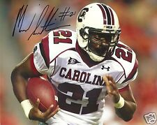 MARCUS LATTIMORE SOUTH CAROLINA SIGNED 8X10 PHOTO  W/COA 17