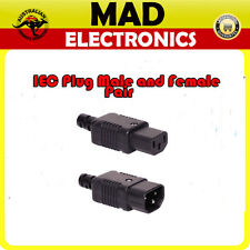 IEC Mains Inline line Male and Female plug C13 C14  Pair 10A 250V