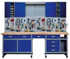Küpper Qualitäts-Werkbank-Komplettset Modell 70412, Breite 240 cm