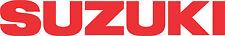 """#141 (2) 8.25"""" Suzuki Logo Motorcycle Decals Stickers GLOSS RED"""