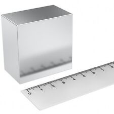 Super Magnete Solido in Neodimio 50x50x30 mm Potenza 225 Kg Acqua Magnetizzata