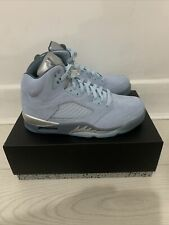 Nike Air Jordan 5 Retro 'Blue Bird' Uk 5.5 Brand New In Box 100% Authentic!