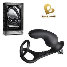 Anello fallico flessibile con plug vibrante Rocks-Off Ro-Zen Pro cock ring
