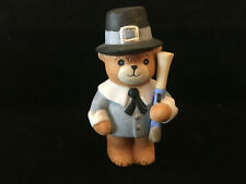 Lucy & Me Thanksgiving Pilgrim Bear With Musket Lucy Rigg Enesco 1982