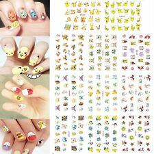 Beauty Women Christmas Pikachu Water Transfers Nail Art Stickers Pokemon Go