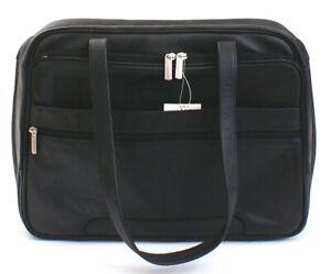 Samsonite Black Leather Charisma Computer Case Women's NWT