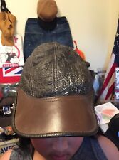 Vintage WWII USAAF US ARMY AIR FORCE B-2 Bomber Sheepskin Leather Flight Cap.