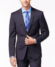 $655 DKNY Mens Extra Slim Fit Wool Blazer Blue Stripe SUIT JACKET SPORT COAT 36R