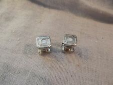 Vintage Jem Link Cufflinks Snap Small Square Mother of Pearl