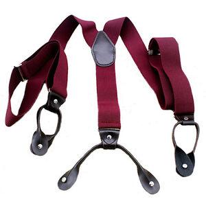 New Style Button Holes Link Men's Suspenders Adjustable Elastic Unisex Braces