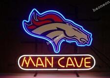 New NFL DENVER BRONCOS MAN CAVE REAL NEON SIGN Beer Bar Light Fast Free Shipping