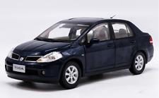 1/18 Dongfeng nissan original manufacturer, Blue Nissan TIIDA car alloy model