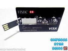 ✹ Novelty HSBC Visa ✹ Credit Card Design ✹ USB Flash Drive 8GB ✹
