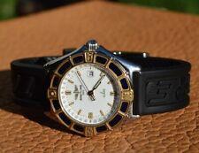 Breitling J Class Steel / 18k Gold Ladies Watch Bezel Rotates Date Yellow Box