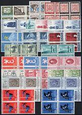 Repubblica - Lotto di 96 francobolli in quartina, 1958 - Nuovi (** MNH)
