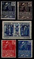 EXPO COLONIALE 1931 Neufs * = Cote 66 € / Lot Timbres France 270 à 274