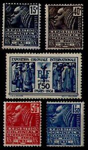 EXPO COLONIALE de 1931, Neufs ** = Cote 145 € / Lot Timbres France 270 à 274