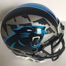 Custom Mini Helmet CAROLINA PANTHERS CHROME BLUE Decals Cam Newton #1