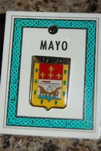County MAYO Irish PIN LAPEL Coat of Arms - Crest - Clip Badge Brooch - Ireland