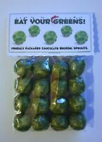 New Chocolate Brussel Sprouts Tab© Christmas Eve Stocking Filler Novelty gift