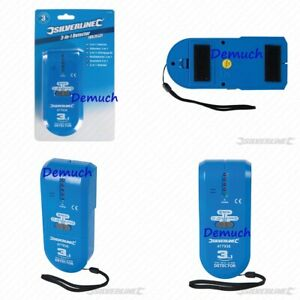 New 3 in 1 DETECTOR Led Audible Signal Wall Ground Electrical Cable Wire Finder