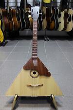 New Classic BALALAIKA, 3 Strings Prima, Natural Wood, Folk russian instrument