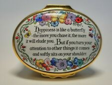 "Halcyon Days English Enamels ""Happiness Is Like a Butterfly"" Trinket Box"