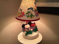 Vintage Disney Plush Baby Mickey Mouse Nursery Lamp W Shade - Rare!
